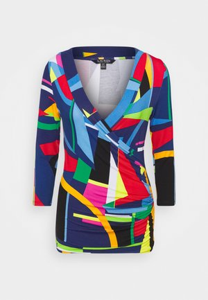 Long sleeved top - blue/multi