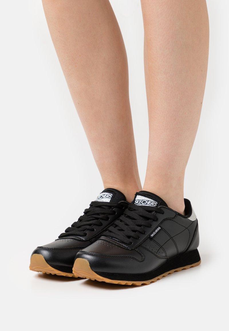 Skechers Sport - Zapatillas - black/silver glitter