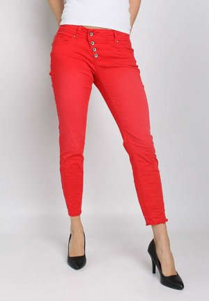 Slim fit jeans - tomato