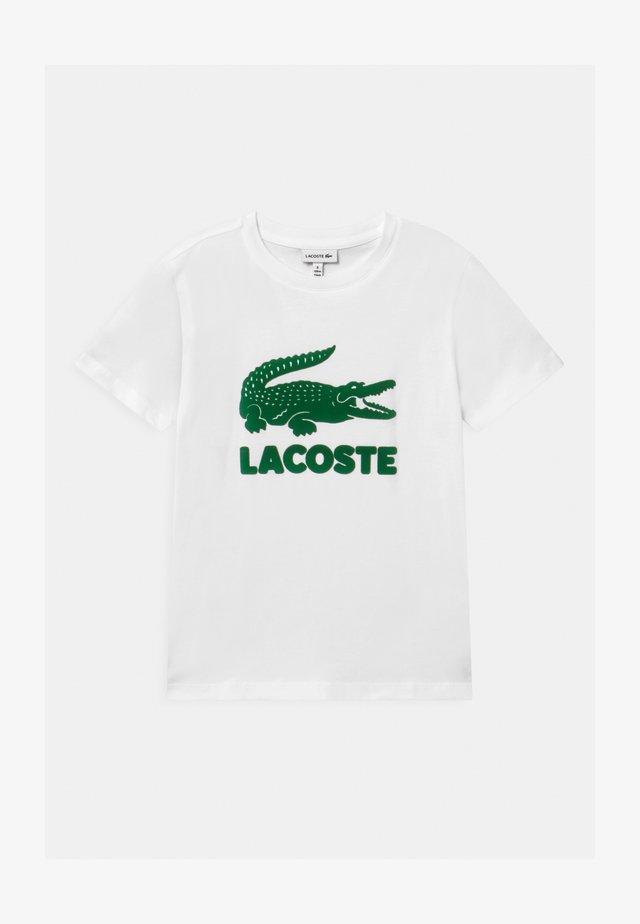 T-shirts print - blanc/vert
