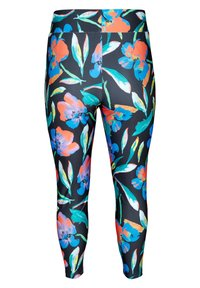 Zizzi - MIT BLUMENMUSTER - Leggings - Trousers - black - 5
