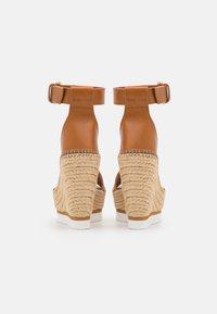 See by Chloé - GLYN - Korkeakorkoiset sandaalit - tan - 3