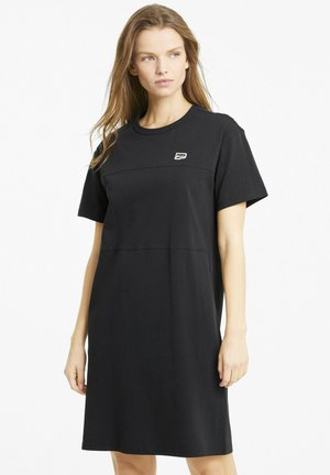 DOWNTOWN - Jersey dress - puma black