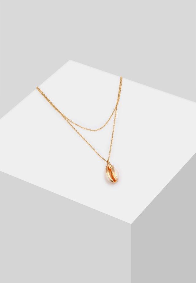 MUSCHEL  - Halsband - gold