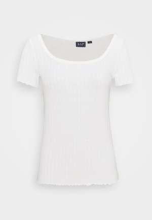 POINTELLE  - T-shirt z nadrukiem - soft antique white