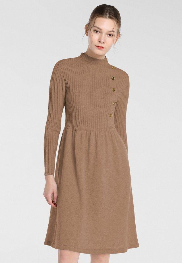 Jersey dress - karamell