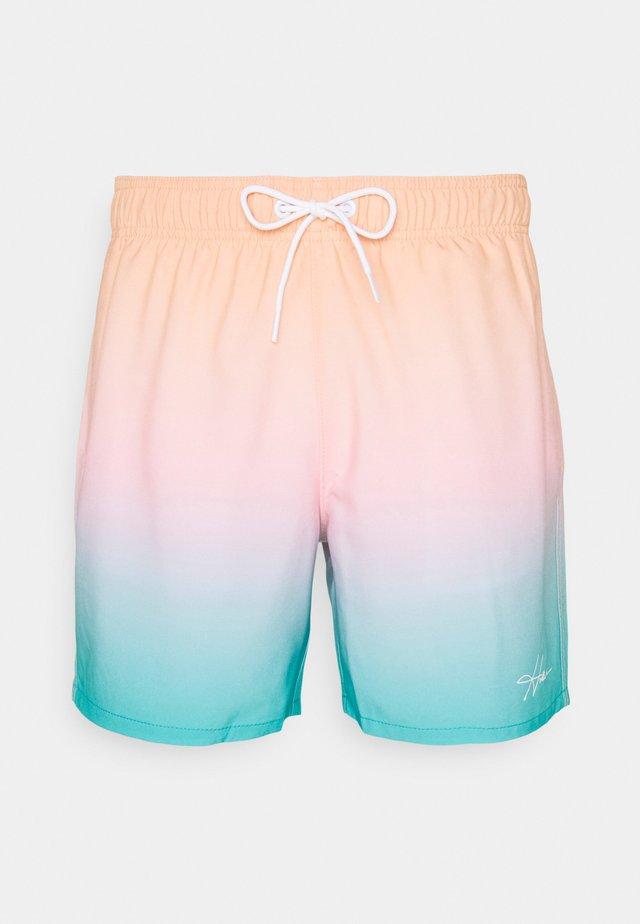 TEST OMBRE GUARD - Short de bain - orange/pink/turquoise