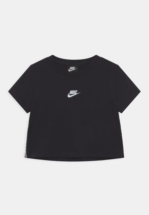 REPEAT CROP - T-shirt imprimé - black