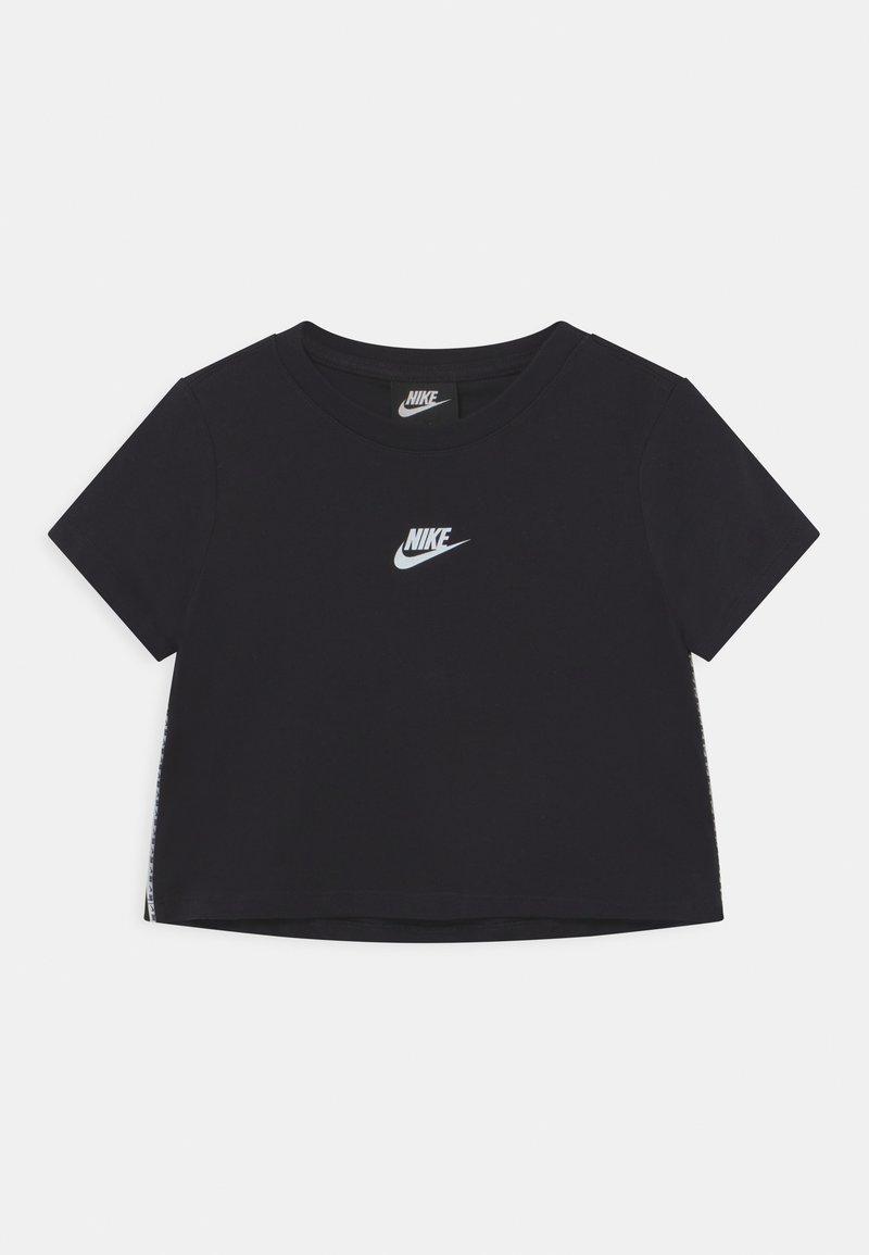 Nike Sportswear - REPEAT CROP - T-shirt z nadrukiem - black