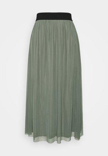 THORA VIOL LONG SKIRT - A-line skirt - moss