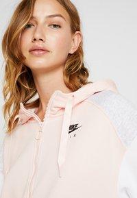 Nike Sportswear - Zip-up hoodie - echo pink/birch heather/white - 5