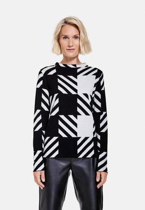 TURTLE KARIERTER  - Sweatshirt - schwarz/ecru/weiss gemustert