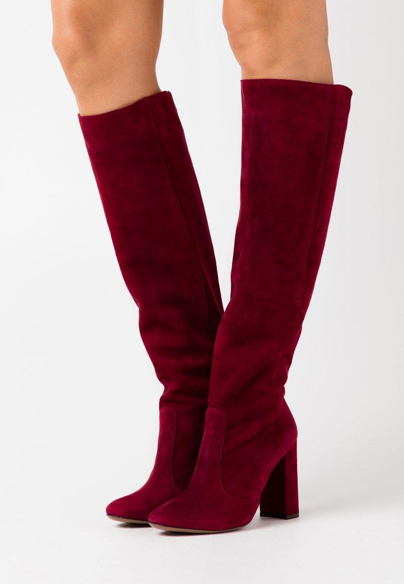 L'Autre Chose - BOOT - Stivali con i tacchi - burgundy