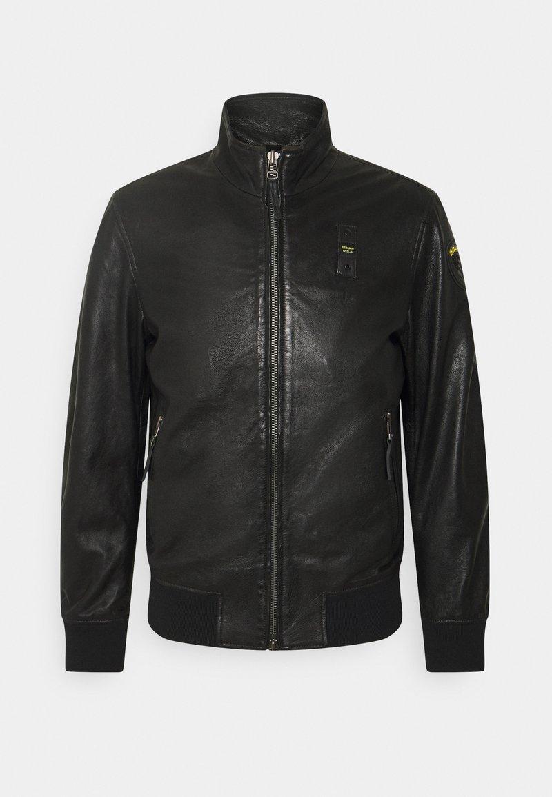 Blauer - Kožená bunda - black