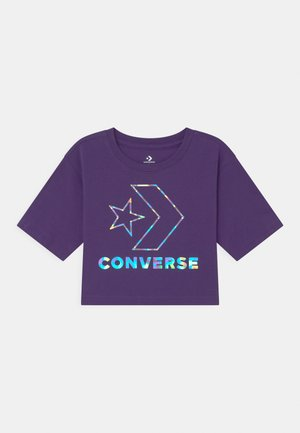 STAR CHEVRON IRIDESCENT - Camiseta estampada - court purple