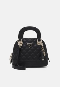 Guess - CESSILY SMALL DOME SATCHEL - Handbag - black - 0