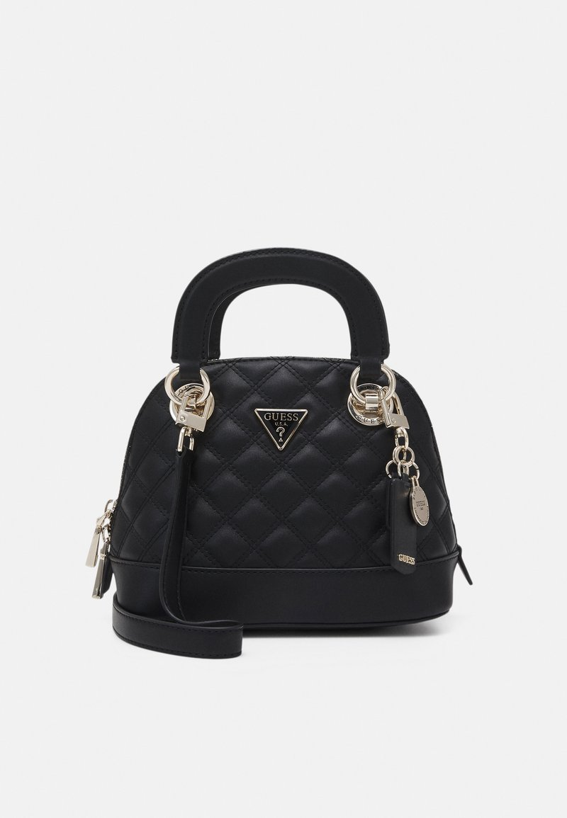 Guess - CESSILY SMALL DOME SATCHEL - Handbag - black