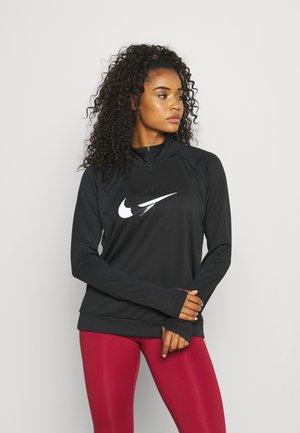 RUN  - Sports shirt - black/off noir/white