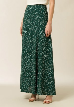 Maxi skirt - aop - leaf eden green