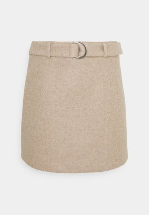 LUNA SKIRT - Mini skirt - beige