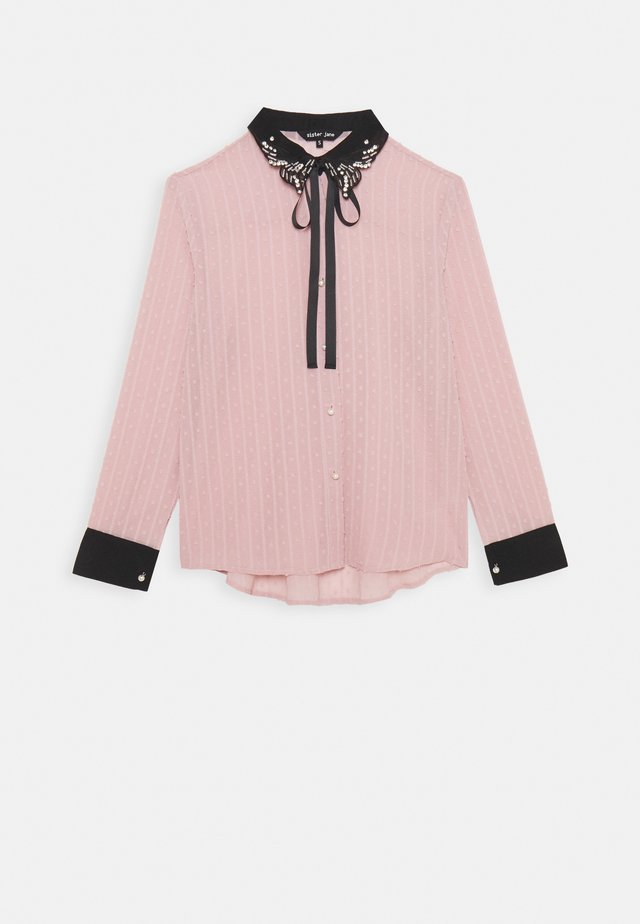 ALL THE CRAZE BOW - Button-down blouse - pink