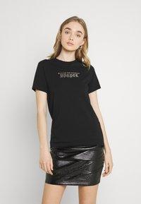 Diesel - UFTEE SILY - Print T-shirt - black - 0