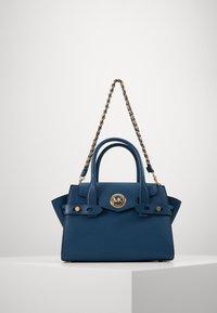 FLAP SATCHEL - Handbag - dark chambray