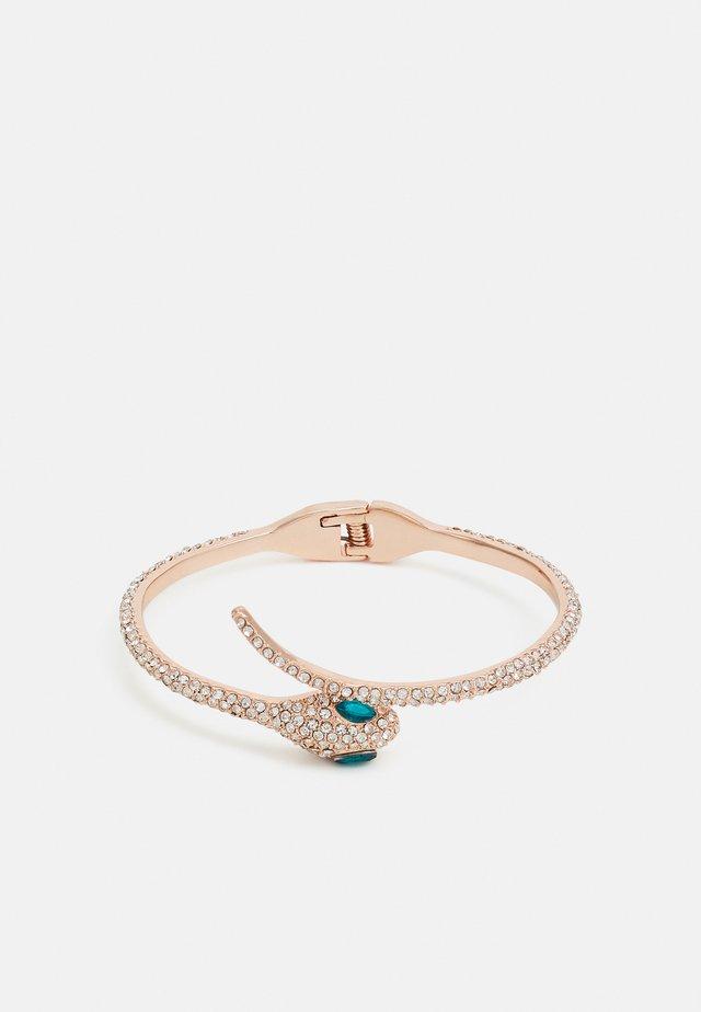 PCLAENA BRACELET - Bracelet - rose gold-coloured/clear/green
