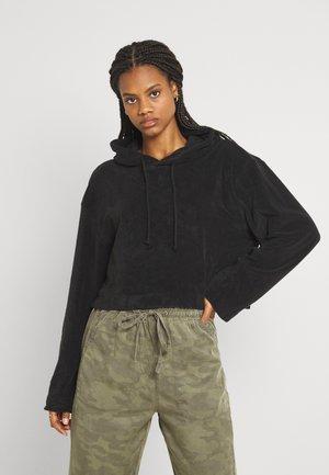 ZINA CROPPED HOODIE - Sweatshirt - black solid