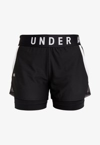 Under Armour - PLAY UP SHORTS - Sportovní kraťasy - black/white - 4