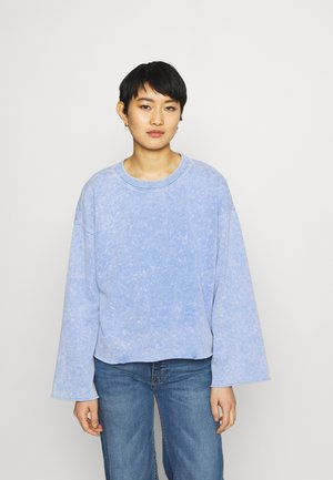 FLARE  CROP - Sweatshirt - neon medium blue