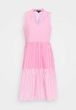 MIXY STRIPE TIERED MIDI - Day dress - pink