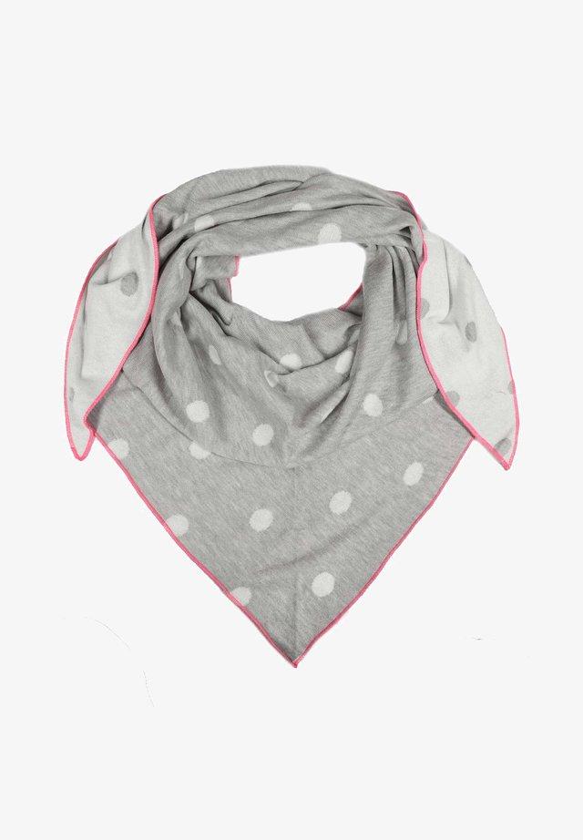 Scarf - grau/weiß/pink