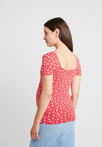Dorothy Perkins Maternity - SQUARE NECK FLORAL - Printtipaita - red ditsy - 2