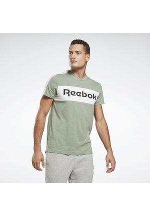 TRAINING ESSENTIALS LINEAR LOGO GRAPHIC T-SHIRT - T-shirt con stampa - green