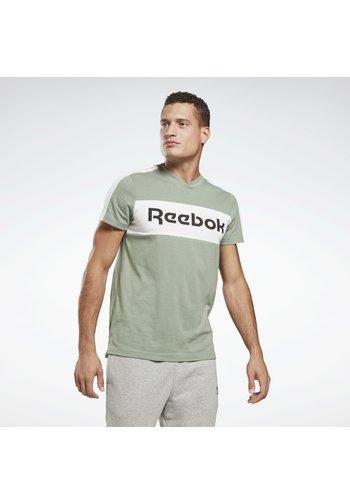 TRAINING ESSENTIALS LINEAR LOGO GRAPHIC T-SHIRT - T-shirt print - green