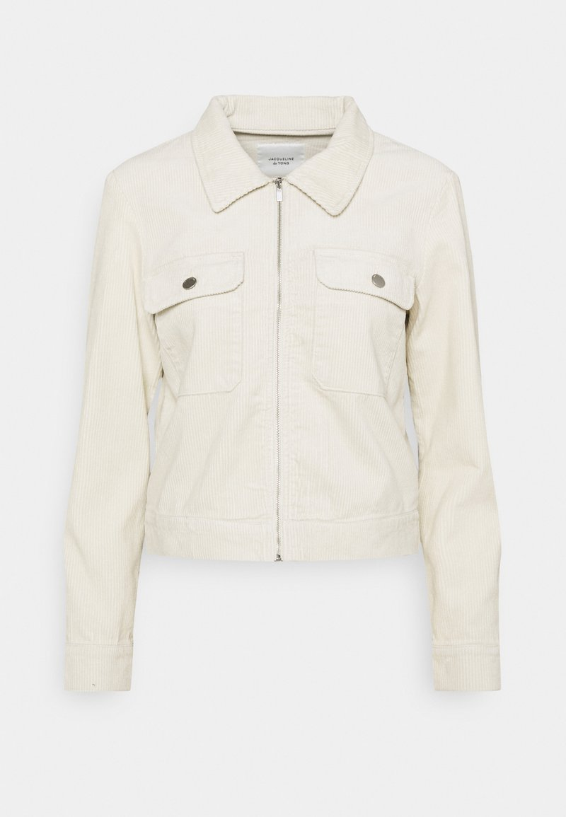 JDY - JDYSHIRAZ LIFE ZIP JACKET - Summer jacket - silver birch