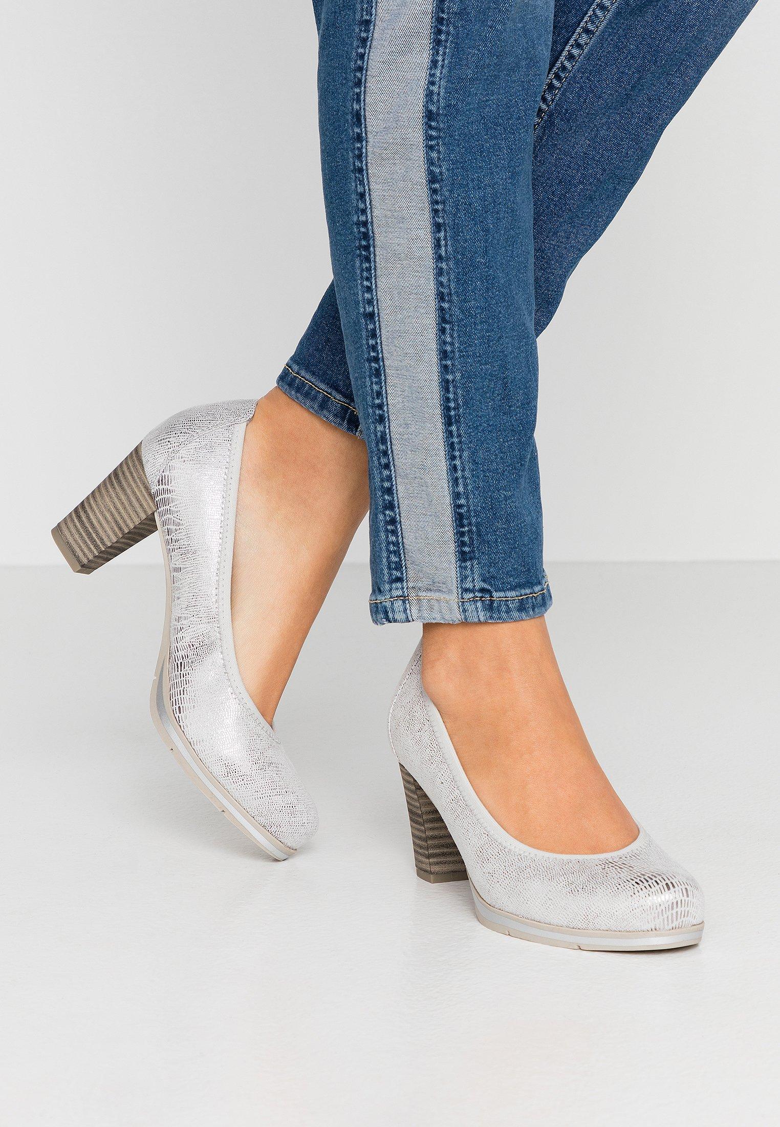 Jana Escarpins - white - Chaussures à talons femme Pas cher