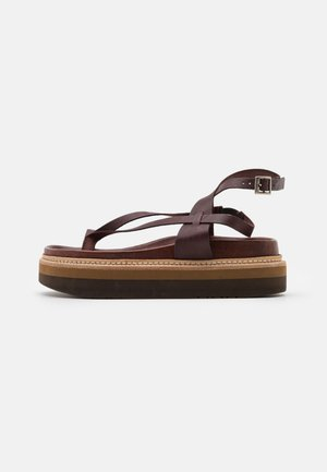 ESTRELLA - T-bar sandals - dark brown