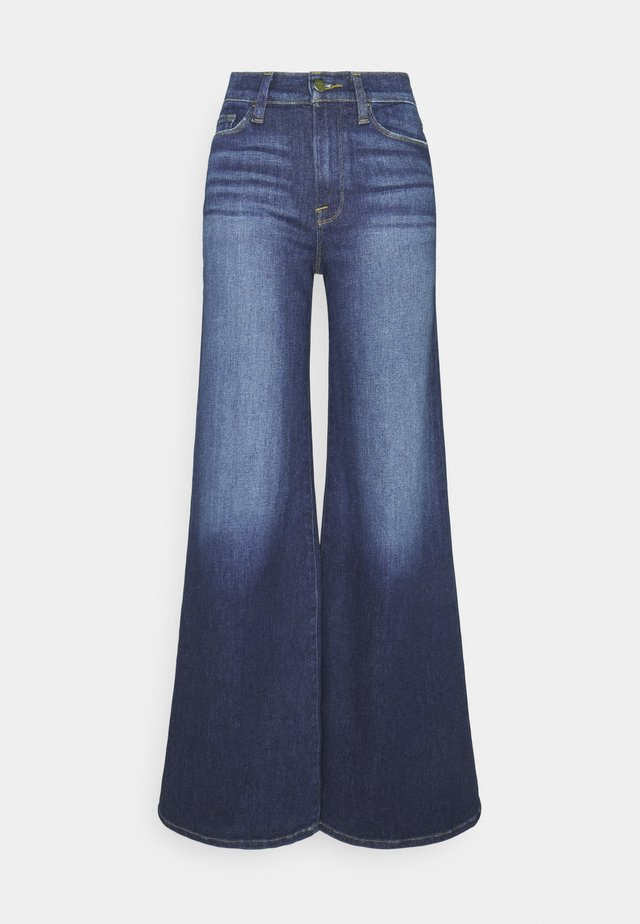 LE PALAZZO PANT - Flared Jeans - dark blue