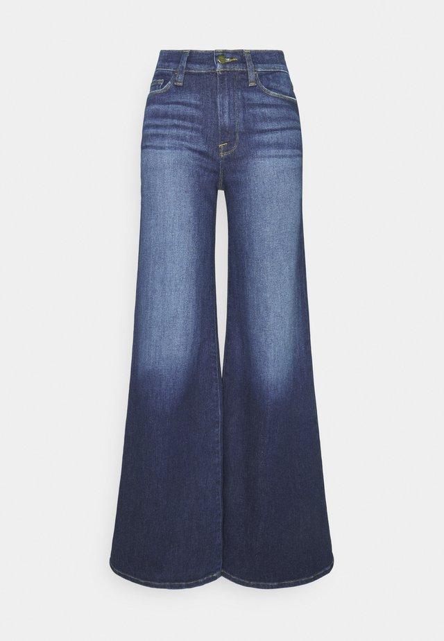 LE PALAZZO PANT - Jean flare - dark blue