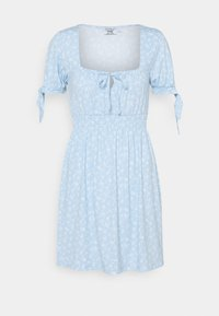 NA-KD - PAMELA REIF X ZALANDO RUCHED DETAIL MINI DRESS - Žerzejové šaty - dusty blue - 4