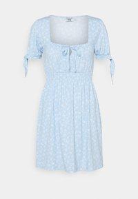 PAMELA REIF X ZALANDO RUCHED DETAIL MINI DRESS - Jersey dress - dusty blue