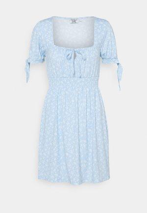 PAMELA REIF X ZALANDO RUCHED DETAIL MINI DRESS - Vestido ligero - dusty blue