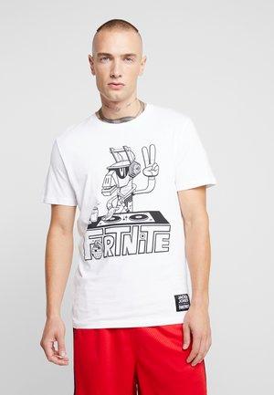 JORFORTNITE TEE CREW NECK - T-shirt med print - white