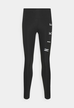 RUN EPIC FAST - Leggings - black/reflective silver