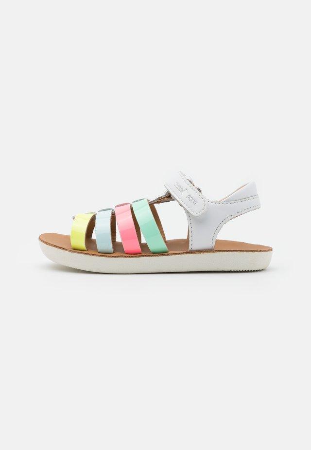 GOA SPART - Sandały - white/multicolor pastel