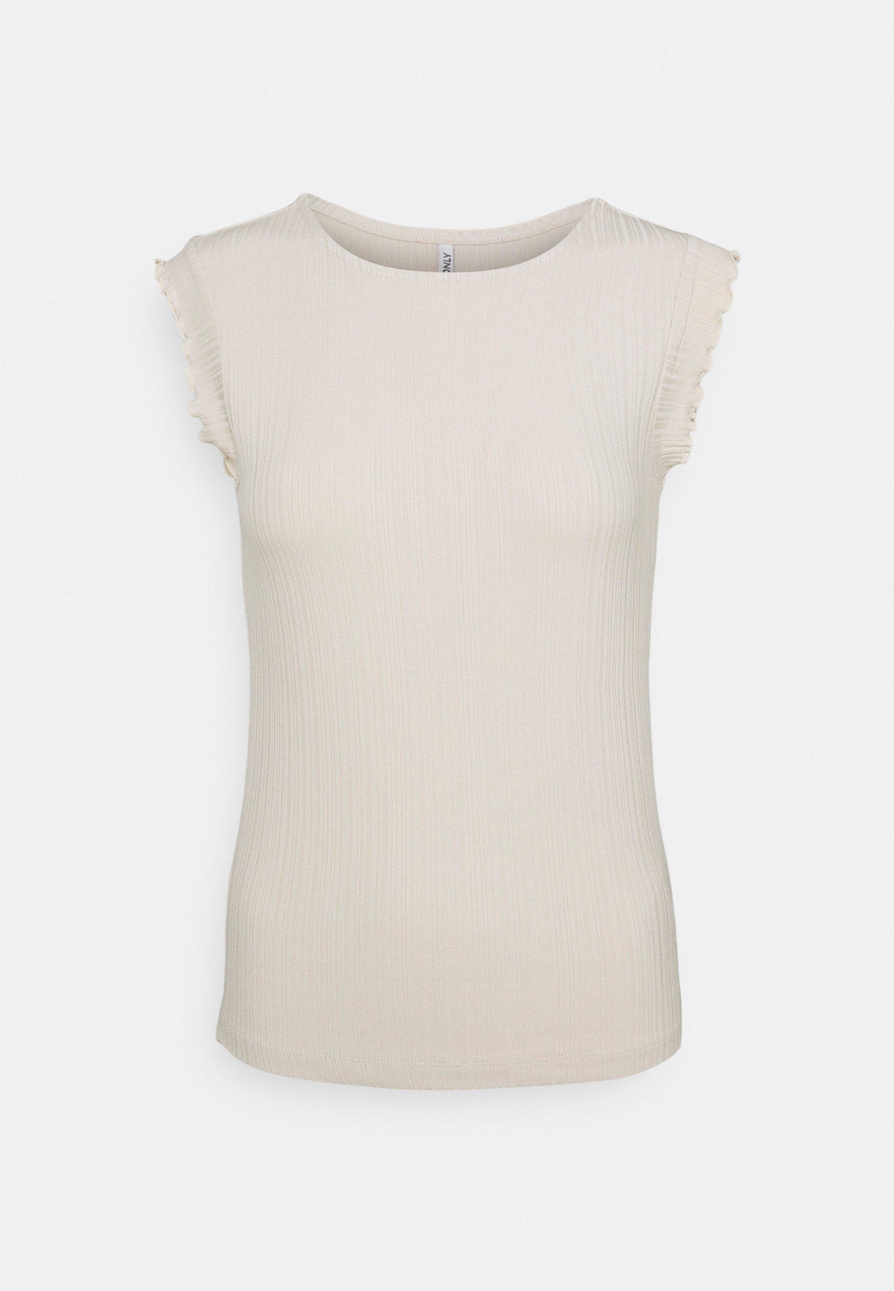 Women ONLNICE FRILL - Basic T-shirt