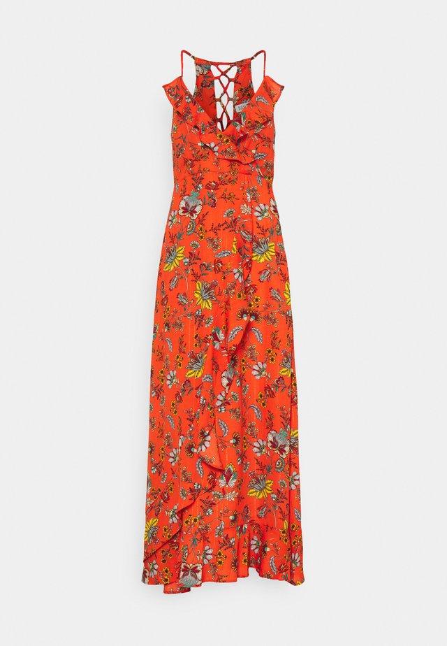 Długa sukienka - pekin red