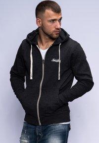 HAVOS  - Zip-up hoodie - dark grey melange